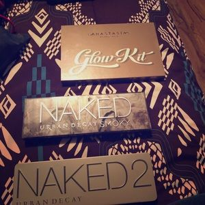 Authentic make up pallets; urban decay, ABH
